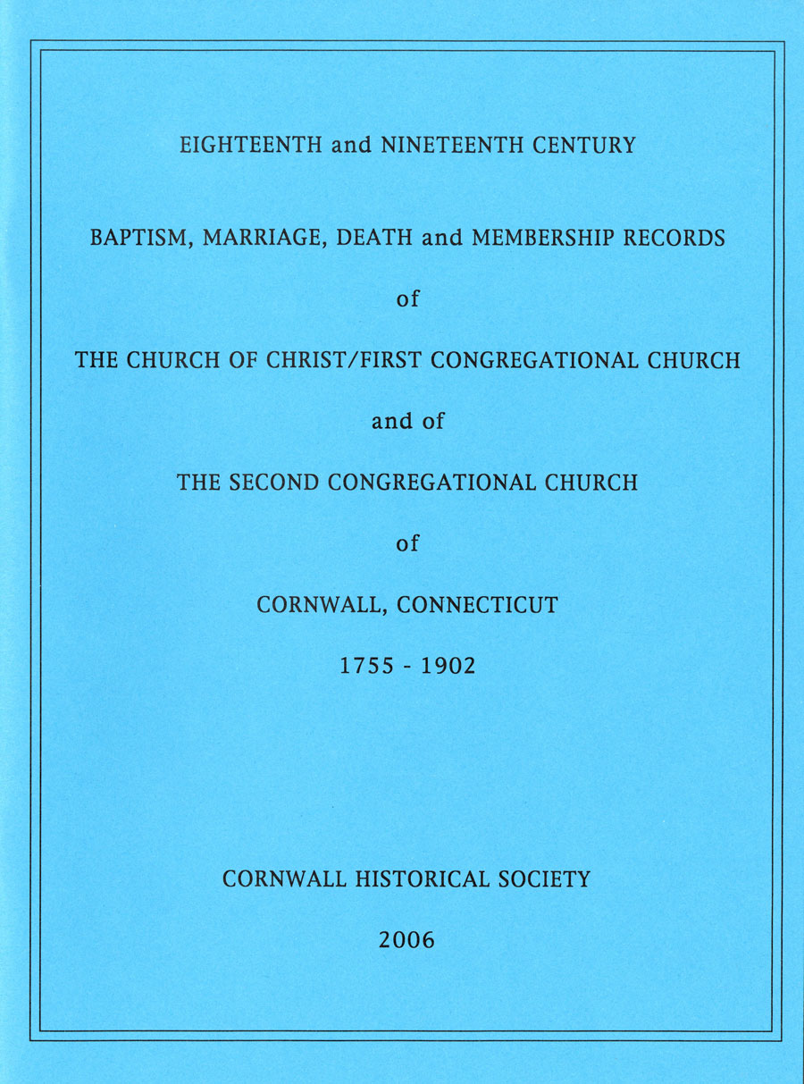 Eighteenth and Nineteenth Century Baptism, Marriage, Death and Membership Records