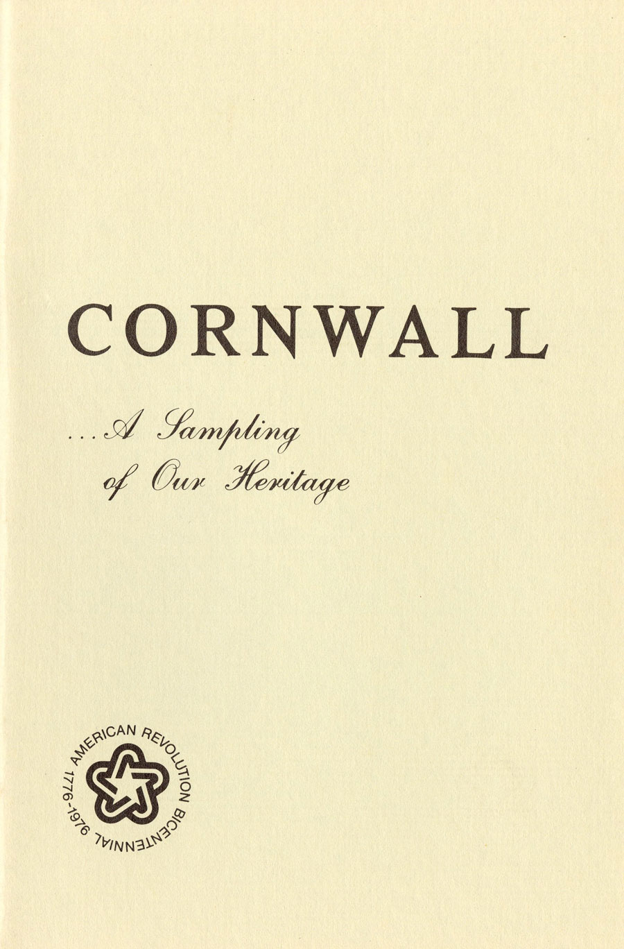 Cornwall… A Sampling of Our Heritage
